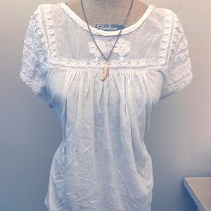 Lucky Brand Lace tee